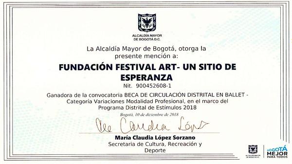 Premio Alcaldía de Bogota